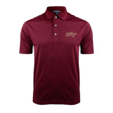 Maroon Dry Mesh Polo-The College Script