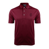 Maroon Dry Mesh Polo-Official Logo - C Charleston Tone