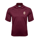 Maroon Dri Mesh Pro Polo-Official Logo - C Charleston
