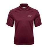 Maroon Dri Mesh Pro Polo-The College Script