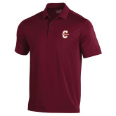 Under Armour Maroon Performance Polo-Official Logo - C Charleston