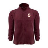 Fleece Full Zip Maroon Jacket-Official Logo - C Charleston
