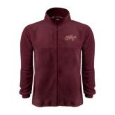 Fleece Full Zip Maroon Jacket-The College Script