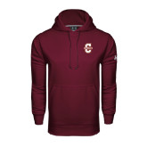Under Armour Maroon Performance Sweats Team Hood-Official Logo - C Charleston