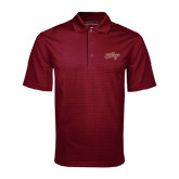 Maroon Mini Stripe Polo-The College Script
