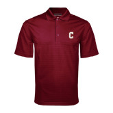 Maroon Mini Stripe Polo-C