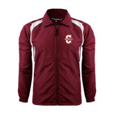 Colorblock Maroon/White Wind Jacket-Official Logo - C Charleston