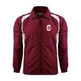 Colorblock Maroon/White Wind Jacket-Official Logo - C Charleston