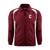 Colorblock Maroon/White Wind Jacket-C