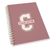 Clear 7 x 10 Spiral Journal Notebook-Official Logo - C Charleston