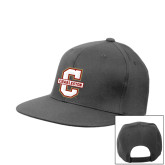 Charcoal Flat Bill Snapback Hat-Official Logo - C Charleston