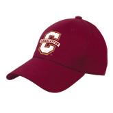 Maroon Heavyweight Twill Pro Style Hat-Official Logo - C Charleston