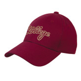 Maroon Heavyweight Twill Pro Style Hat-The College Script