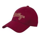 Maroon Heavyweight Twill Pro Style Hat-The College Script