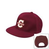 Maroon Flat Bill Snapback Hat-Official Logo - C Charleston