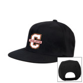 Black Flat Bill Snapback Hat-Official Logo - C Charleston