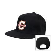 Black Flat Bill Snapback Hat-Official Logo - C Charleston