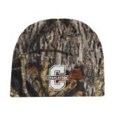 Mossy Oak Camo Fleece Beanie-Official Logo - C Charleston Tone