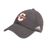 Adidas Charcoal Slouch Unstructured Low Profile Hat-Official Logo - C Charleston