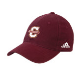 Adidas Maroon Slouch Unstructured Low Profile Hat-Official Logo - C Charleston