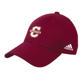 Adidas Maroon Structured Adjustable Hat-Official Logo - C Charleston