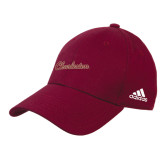 Adidas Maroon Structured Adjustable Hat-Charleston Script