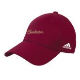 Adidas Maroon Structured Adjustable Hat-Charleston Script