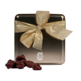 Decadent Chocolate Clusters Gold Medium Tin-Official Logo - C Charleston Engraved
