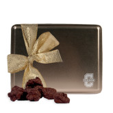 Decadent Chocolate Clusters Gold Large Tin-Official Logo - C Charleston Engraved