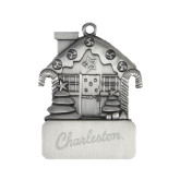 Pewter House Ornament-Charleston Script Engraved