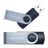 USB Black Mini Pen Drive 4G-Charlston Flat Engraved