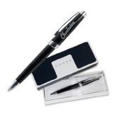 Cross Aventura Onyx Black Ballpoint Pen-Charleston Script Engraved