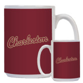 Full Color White Mug 15oz-Charleston Script