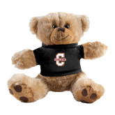 Plush Big Paw 8 1/2 inch Brown Bear w/Black Shirt-Official Logo - C Charleston