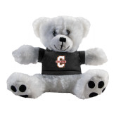 Plush Big Paw 8 1/2 inch White Bear w/Black Shirt-Official Logo - C Charleston