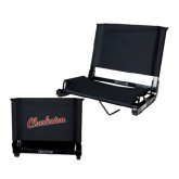 Stadium Chair Black-Charleston Script