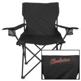 Deluxe Black Captains Chair-Charleston Script