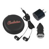 3 in 1 Black Audio Travel Kit-Charleston Script