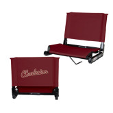 Stadium Chair Maroon-Charleston Script