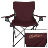 Deluxe Maroon Captains Chair-Charleston Script
