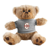 Plush Big Paw 8 1/2 inch Brown Bear w/Grey Shirt-Official Logo - C Charleston