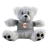 Plush Big Paw 8 1/2 inch White Bear w/Grey Shirt-Official Logo - C Charleston
