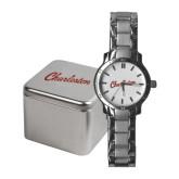 Ladies Stainless Steel Fashion Watch-Charleston Script