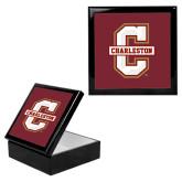 Ebony Black Accessory Box With 6 x 6 Tile-Official Logo - C Charleston