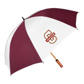 62 Inch Maroon/White Umbrella-Official Logo - C Charleston