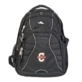 High Sierra Swerve Black Compu Backpack-Official Logo - C Charleston