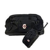 Urban Passage Wheeled Black Duffel-Official Logo - C Charleston