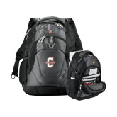 Wenger Swiss Army Tech Charcoal Compu Backpack-Official Logo - C Charleston