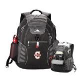 High Sierra Big Wig Black Compu Backpack-Official Logo - C Charleston
