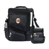 Momentum Black Computer Messenger Bag-Official Logo - C Charleston